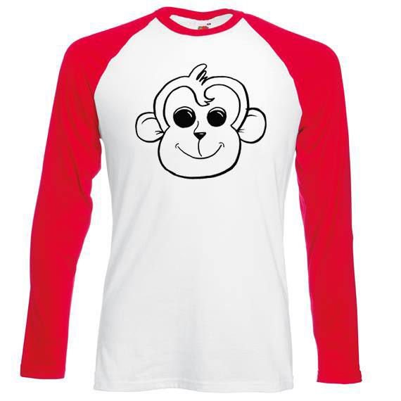 baseball t-shirt with monkey on