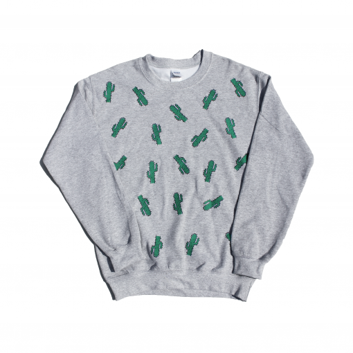 cactus sweater jumper ev designs uk grey cosy winter is coming cacti