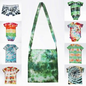 EV Designs range of tie-dye items for sale