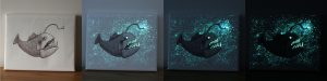 Glow Galaxy Art Canvas Glow in the dark Gifts
