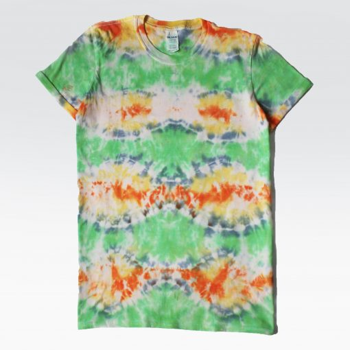 EV Designs UK Tie-dye Custom tshirt green fish scale pattern