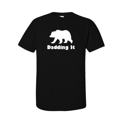 dadding it bear design on black tshirt EV Designs UK custom order