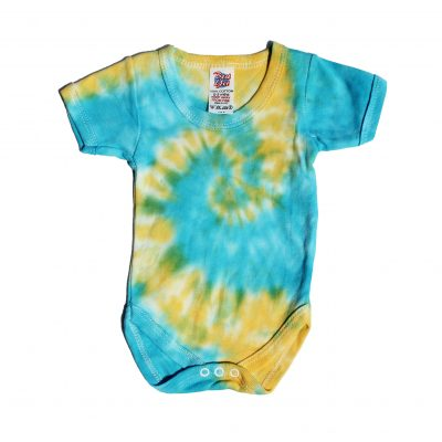 blueand yellow spiral baby grow ev designs uk babyshower baby gifts