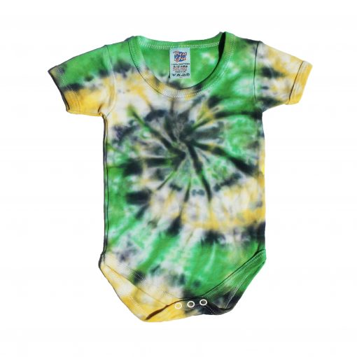 green, black and yellow spiral baby grow ev designs uk babyshower baby gifts pregnant