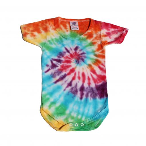 tiedye baby grow spiral babyshower gifts ev designs uk