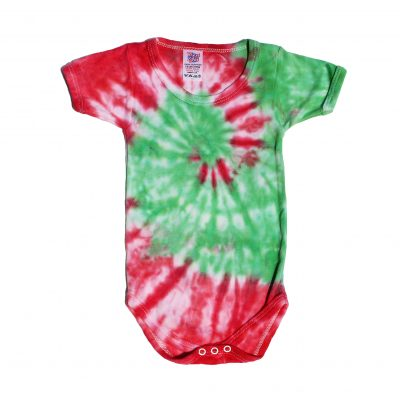 red and green spiral baby grow ev designs uk babyshower baby gifts