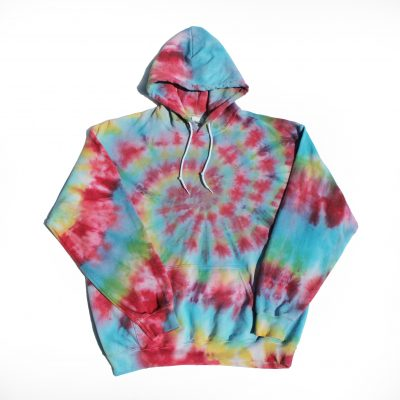 EV Designs UK spiral tiedye hoode gildan quality clothing comfy sweats hippy festival fashion