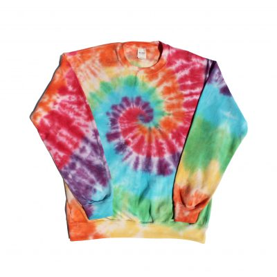 rainbow spiral tiedye sweater comfy sweats ev designs uk fashion cosy
