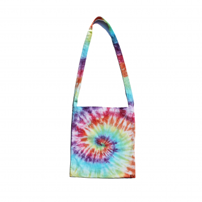 ev designs uk natural cotton tote bag eco friendly reusable bags shopping tiedye rainbow unicorn spiral