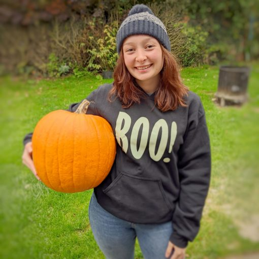 ev designs uk boo glow in the dark hoodie halloween outfit ideas matching family jumpers cosy hoody for winter