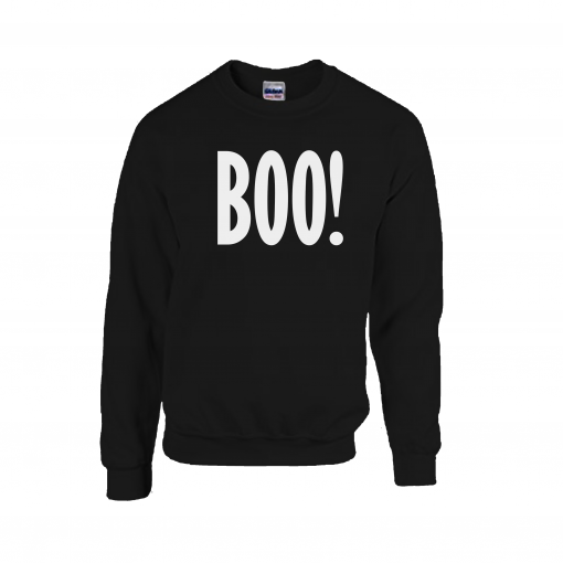 boo ! halloween jumper halloween costume sweater cosy winter autumn ghost scary ev designs uk clothing brand family