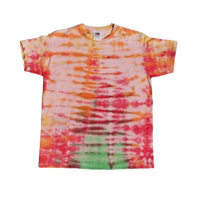 kids orange stripe ev designs uk tiedye tshirt custom design clothing festival hippy vw fashion