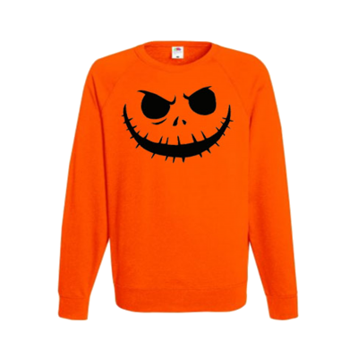 pumpkin scary halloween jumper sweater ev designs uk clothing brand autumn fall october festive