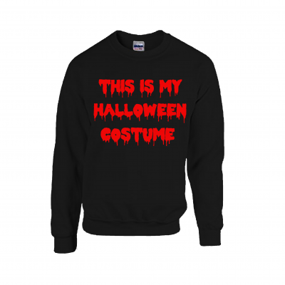this is my halloween costume sweater jumper ev designs uk clothing brand bloody text
