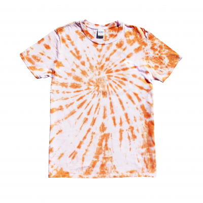 medium orange tie-dye tshirt