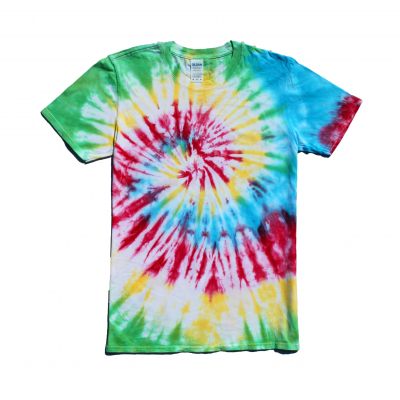 rainbow spiral tiedye tshirt medium