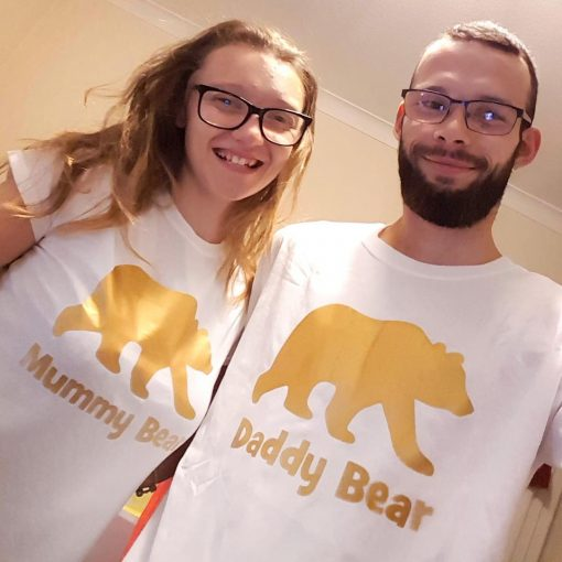 mummy and daddy bear tshirts a customer photo from EV Designs UK