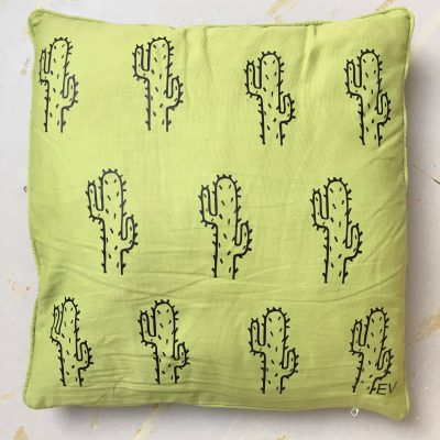 EV Designs UK Green Cactus cacti cushion cover