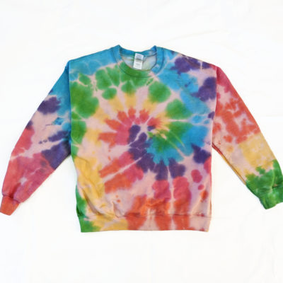 rainbow spiral tiedye sweater large