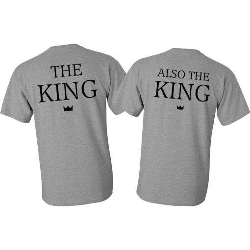the king and also the king gay pride shirts gifts for your husband matching tshirts cute gift ideas ev designs uk