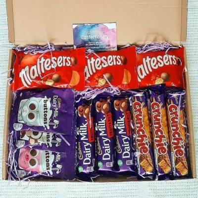 no nonsense confectionery letter box crate chocolate gift box the perfect gift for all the family gifts for him gifts for her personalised message cadburys gift box