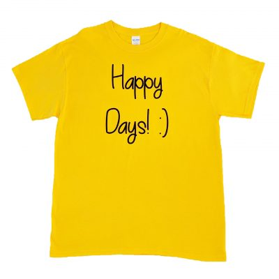 ev designs uk happy days tshirts sunflower yellow happy days tee gift ideas for her
