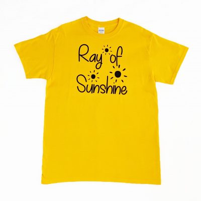 ev designs uk ray of sunshine tshirt bright yellow tee great gift ideas gifts for her sunflower yellow tshirt