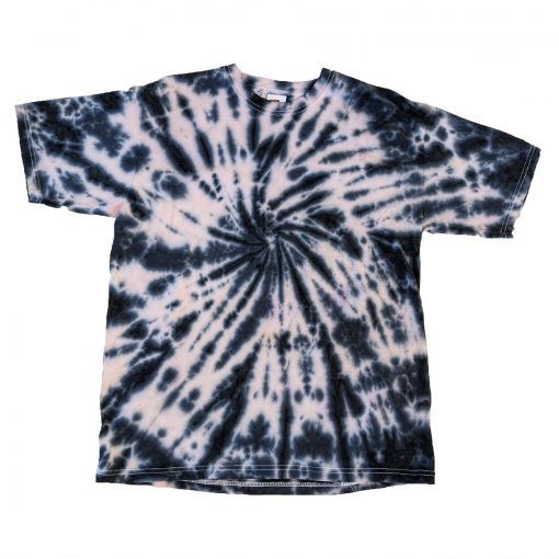 navy and pale pink tiedye spiral kids tshirt 14-15 years gifts for teenagers